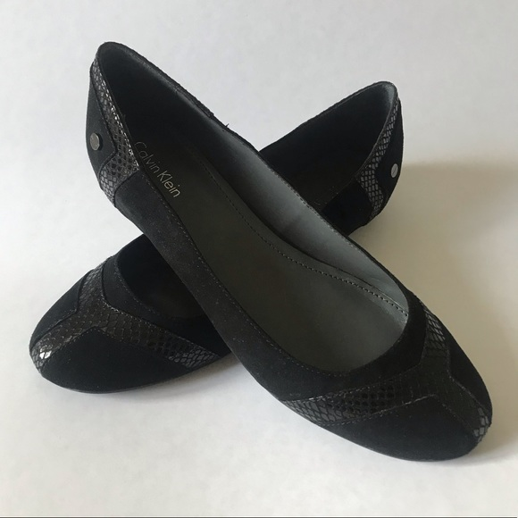 Calvin Klein Black Suede flats *brand new*